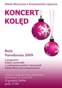plakat Koledy 2009 mały