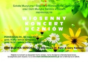 KOncert Wiosenny 2013 PLAKAT