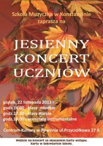 plakat JESIENNY  2013 strona