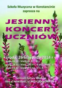 plakat JESIENNY  2014 strona