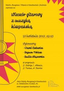 plakat-Wieczór gitarowy  z muzyką hiszpańską (1)